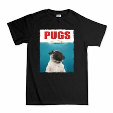Pugs Jaws Shark Funny T shirt