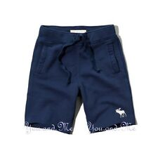 NEW ABERCROMBIE & FITCH for MEN * A&F Athletic Shorts w/Moose Logo * Navy S-XL