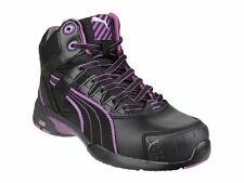 Puma Safety STEPPER MID Ladies Leather Heat/Slip Resistant Safety Boots Black