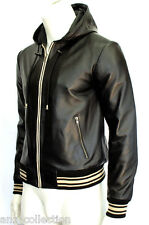 Fraser Mens Slim Fit Soft Light Weight Hooded Fashion Nappa Sheep Leather Jacket