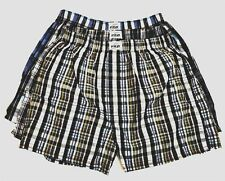 2 Mens Plaid Boxer Shorts 100% Cotton Pro5 Lot -S, M, L, XL, 2XL, 3XL, 4XL, 5XL