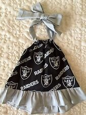 Oakland Raiders Baby Girl Summer Dress Size 3 Months, 6 Months and 12 Months