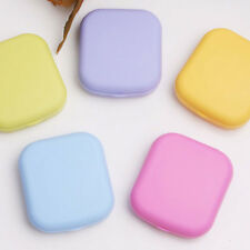 Mini Contact Lens Case Travel Kit Easy Carry Mirror Storage Holder Container Box