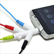 3.5mm Audio Splitter Branches Earphone Headset Cable Male to 4 Female Adapter