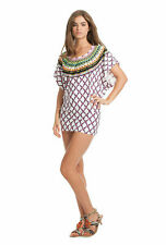 NWT Trina Turk KON TIKI Swim Bathing Suit Beach Dress Cover Up White