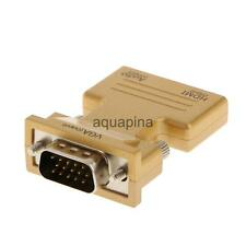 HDMI Female to VGA Male Converter + Audio Adapter Support 1080P Singnal Output
