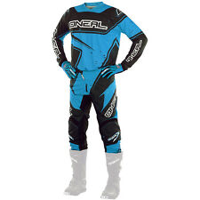 Oneal 2017 NEW Mx Element Jersey Pants Gloves Black Cyan Blue Motocross Gear Set