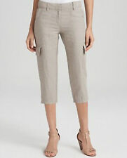 NWT Eileen Fisher Cropped Cargo Pant Organic Linen Natural Khaki $168 – 6, 8