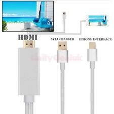 Output 1080P HDTV HDMI AV Cable Adapter Cord for iPhone 5 6 Plus Home Theatre