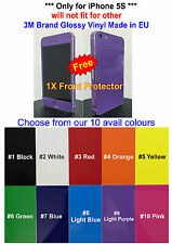 3M Glossy Vinyl Skin Sticker For iPhone 5S Full Body *Free Extra Mix Edge Set*