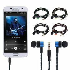 Universal 3.5mm In-Ear Earbud Earphone Braided Wire Stereo Headset Headphone