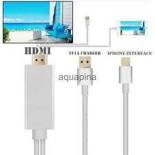 1080P Converter HDTV HDMI AV Cable Adapter Cord for iPhone 5 6 Plus Family Movie