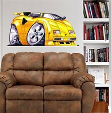 Countach Sports Car WALL GRAPHIC DECAL MAN CAVE ROOM GARAGE #4961