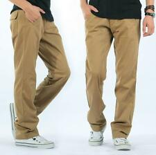 Men's Cargo Cotton Outdoor Casual Straight Loose Trousers Overalls Pants SZ29-42