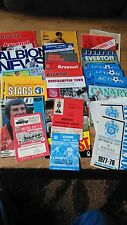 Football programme collection 1960's and 70's