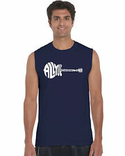 Men's Sleeveless T-shirt - All You Need Is Love Created Out of The Words All You