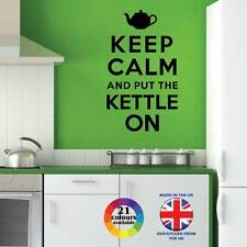 Keep Calm and Put The Kettle On - wall art quote sticker decal graphic kitchen