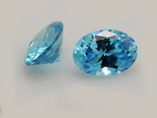 Cubic Zirconia Oval Aquamarine Blue AAA Rated CZ Loose Stones (5x3mm - 25x20mm)