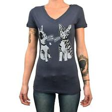 Bow Wow Meow Annex Apparel Clothing Women's Tee Shirt Vintage Art Cat and Dog