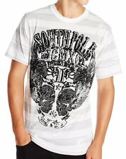 Southpole Urban Streetwear Skull Wings Patriot Stripes White Mens T-Shirt
