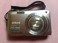 Nikon COOLPIX S3300 16.0 MP Digital Camera - Silver, Lens-shift VR