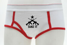Come and Take It AR-15 Assault Rifle Ladies Boy Briefs Shorts GUN Red Underwear