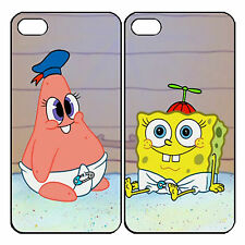 New patrick and spongebob Couple Custom Phone Case for iPhone 6 PLUS 6 5 5s 4 s