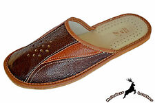 Mens House Mule Handmade Buffalo Leather Indoor House Slippers Shoes Slip On