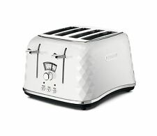 De'Longhi Brillante Faceted 4 Slice Toaster CTJ4003.W - White