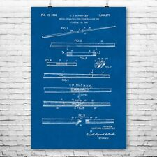 Two Piece Pool Cue Poster Patent Art Print Gift Billiards Poster Billiards Art