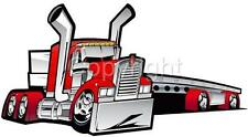 Kenworth Big Rig Flatbed Truck Hauler Cartoon Tshirt 2019 automotive art