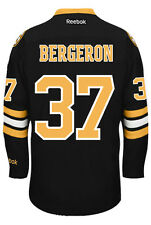 Patrice Bergeron Boston Bruins NHL Third Reebok Premier Hockey Jersey