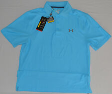 New Under Armour Mens Performance Loose Fit Golf Polo Blue Medium, Large 1251484