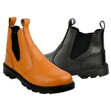 Mens Truka Steel Toe Cap Pull On Boots,safety shoes,steel toe cap,builder shoes
