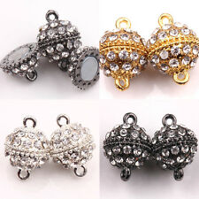 New Silver/Gold/Gun Black Plated Strong Magnetic Round Ball Crystal Clasps