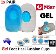 1x PAIR Gel Foot Heel Cushion Cups Support Spur Insoles Pad Pain Arthritis