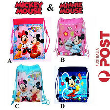 New Mickey Minnie Mouse Backpack School Girls Boys Kids Party Bag Loot Hand Bags