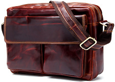 Men's Vintage Genuine Leather Satchel Shoulder Bag Messenger Laptop briefcase