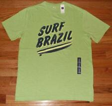 NWT NEW Mens GAP Graphic Logo Tee T-Shirt Surf Brazil Surfboard Cotton $22 *N3