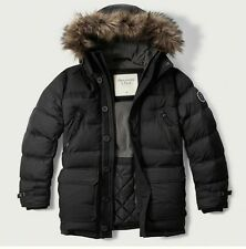 Mens Abercrombie & Fitch Fleece Quilted Hoodie Puffer Parka Coat Jacket S, M,