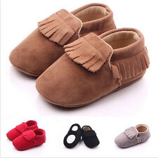 Baby Tassel Leather Shoes Infant Boy Girl Toddler Moccasin Shoes 0-18Months New
