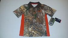NEW Under Armour Boy's Camo Real Tree Polo Shirt Sizes 4 / 5 / 6 MSRP $36.99
