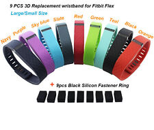 New 9xReplacement Metal Clasp 3D Wrist Band For Fitbit Flex Bracelet No Tracker