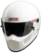 SIMPSON BANDIT HELMET SNELL SA2015 BLACK WHITE COLOUR UK M6 TERMINAL MSA