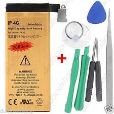 Replacement High Capacity Gold Battery iPhone 4 4S Full Kit Tools Opening batery