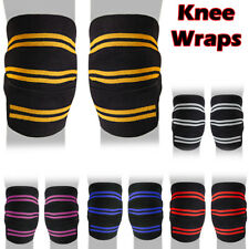Weight Lifting Bandage Straps Powerlifting Gym Knee Wraps Powerlifting Support