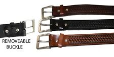 HEAVY DUTY COW LEATHER BELT HANDMADE_BELTS_MEN  BASKET WAVE BELT