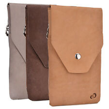 Universal Full-grain Genuine Leather Phone Wallet Case Pouch  GMENMO1|ECE