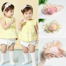 Kids Girls Baby Headband Toddler Lace Bow Flower Hair Band Accessories Headwear
