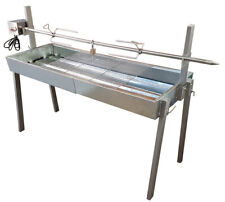 Charcoal Spit Roaster BBQ Grill - Extendable length includes motor